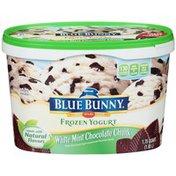 Blue Bunny White Mint Chocolate Chunk Frozen Yogurt