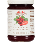D'arbo Fruit Spread, Seedless, Red Currant