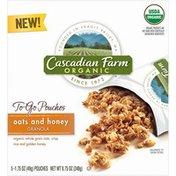 Cascadian Farm To-Go Granola Pouches Oats & Honey Granola