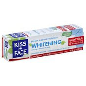 Kiss My Face Toothpaste, Anticavity Fluoride, Whitening, Cool Mint, Gel
