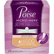 Poise Lightest Absorbency Regular Length Incontinence Microliners