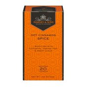 Harney & Sons Wrapped Black Teabags Hot Cinnamon Spice - 20 CT