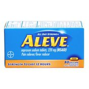 Aleve Pain Reliever/Fever Reducer Gelcaps - 80 CT