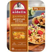 Aidells Pulled Chicken, with Jalapeno & Cilantro, Mexican Style