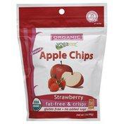 Yogavive Apple Chips, Organic, Popped, Strawberry