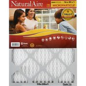 NaturalAire Air Cleaning Filter, Microparticle, 16 x 20 x 1