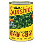The Allens Sunshine Seasoned Southern Style Fat Free Turnip Greens