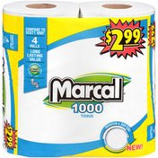 Marcal® 1000 Sheet One-Ply Tissue Rolls Marcal 1000 Sheet One-Ply Tissue Rolls