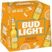 Bud Light Orange Beer Bottles