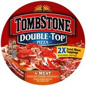 Tombstone Double Top *2X Total Meat Toppings As Our Original 4 Meat Pizza  4 Meat Sausage, Hamburger, Pepperoni, Canadian Bacon Pizza