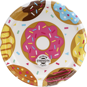 Party Creations Plates, Premium Strength, Donut Time, 8-3/4 Inch