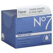No7 Night Cream, Triple Action, Lift & Luminate
