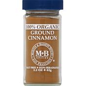 Morton & Bassett Spices Cinnamon, 100% Organic, Ground