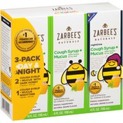 Zarbee's Naturals Day & Night Cough Syrup + Mucus with Dark Honey