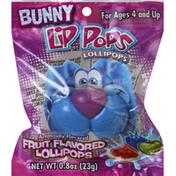 Lip Pops Lollipops, Fruit Flavored, Bunny