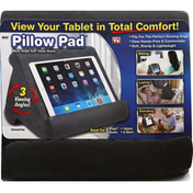 Pillow Pad Tablet Stand, Charcoal Gray, Soft, Multi-Angle