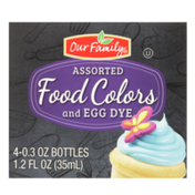 Our Family Assorted Food Colors And Egg Dye