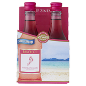 Barefoot White Zinfandel Wine 4 Single Serve Bottles