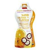 HappyFamily HappySqueeze Super Orange + Pumpkin Organic Smoothie