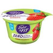 Dannon Zero Artificial Sweeteners Strawberry Nonfat Yogurt