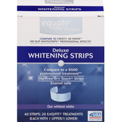Equate Whitening Strips, Deluxe