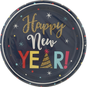 Party Creations Plates, New Year Countdown, Sturdy Style