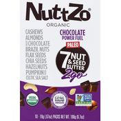 NuttZo 7 Nut & Seed Butter, Organic, Power Fuel, Chocolate, 2Go