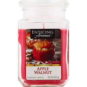 Enticing Aromas Scented Candle, Soy Blend, Apple Walnut