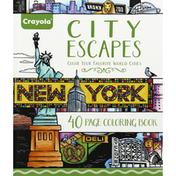 Crayola Coloring Book, 40 Page, City Escapes