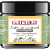 Burt's Bees Activated Coconut Charcoal Powder for Teeth Whitening, Mountain