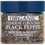Morton & Bassett Spices Black Pepper, Organic, Coarse Ground