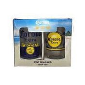 Corona 16 Ounce Extra Labels Pub Glass
