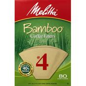 Melitta Coffee Filters, Bamboo, No. 4