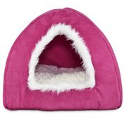 Harmony Raspberry Hooded Igloo Cat Bed