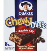 Quaker Granola Bars, Chocolatey Covered, Chocolate Chip