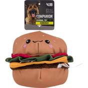 Companion Hamburger Dog Toy