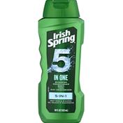 Irish Spring Body Wash & Shampoo, 5-in-1