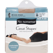 No nonsense Pantyhose, All Over Shaper, Sheer Toe, Size B, Bare Bisque