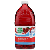 Food Club Lite Cranberry Juice Cocktail Blended With 2 Other Juices From Concentrate
