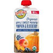 Earth's Best Stage 2 Apple Sweet Potato Pumpkin & Blueberry Organic Baby Food Puree