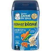 Gerber Power Blend Probiotic Oatmeal, Lentil, Carrots & Peas Cereal for Baby