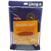 Hy-Vee Cheddar Jack A Blend Of Cheddar And Monterey Jack Finely Shredded Cheeses