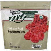 Seven Farms Raspberries, Organic, Red, Whole