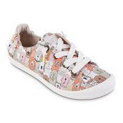Bobs Size 6 Beach Bingo Dog House Party Women's Lace-up Sneakers