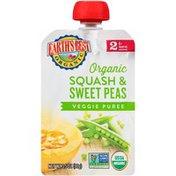 Earth's Best Stage 2 Squash & Sweet Peas Organic Veggie Puree
