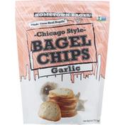 Hometown Bagel Bagel Chips, Garlic, Chicago Style