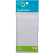 Simply Done Round Labels, White