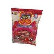 Jovy Cherry Pop Bubble Gum Lollipops in Peg Bag