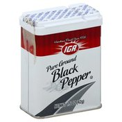 IGA Black Pepper, Pure Ground