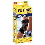 FUTURO Knee Support, Moisture Control, Moderate Support, Large